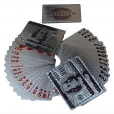 Серебряные карты в виде доллара
