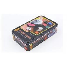Покерный набор в металлической коробке-80 фишек