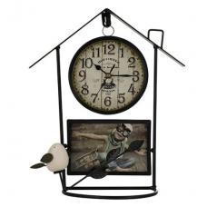 Настольные часы с фоторамкой