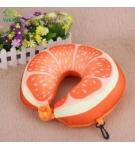 Подушка-подголовник Апельсин