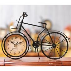 Декоративные часы-велосипед