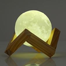 Настольная сенсорная 3D лампа-луна 15 см