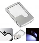 Лупа-кредитка с LED подсветкой