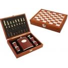 Подарочные шахматы и фляга для алкоголя