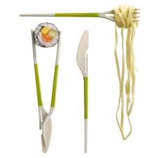 Европейско-японские столовые приборы Twin One Cutlery Set