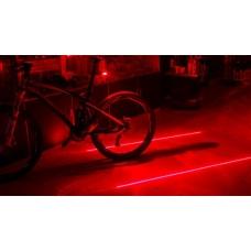 Задний красный фонарь - лазер для велосипеда